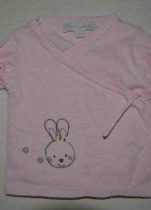 Фирменная кофточка кофта новорожденной девочке зайчик кролик