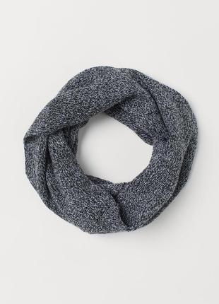 Вязаный перекрученный шарф - труба снуд хомут из мягкой трикот...