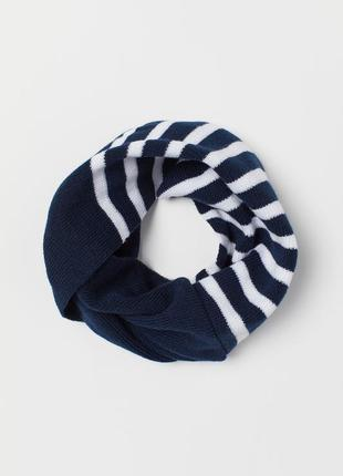 H&m вязаный перекрученный шарф - труба снуд хомут из мягкой тр...