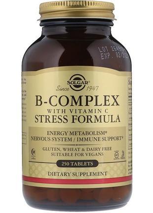 Solgar Комплекс витаминов В с витамином С B-complex, 250 таблеток