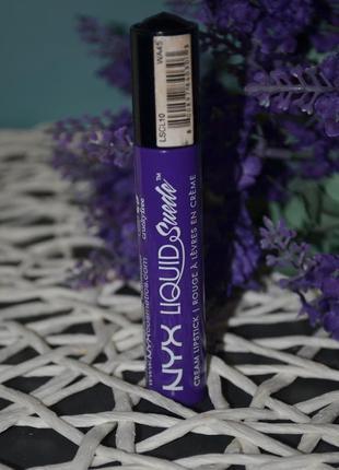 Жидкая помада для губ nyx professional makeup liquid suede cre...