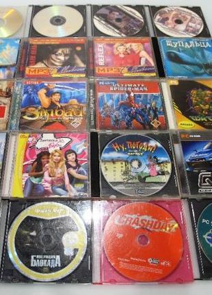 Набор дисков с играми, фильмами/мультфильмами, музыкой