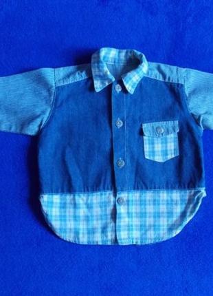 Джинсовая рубашка на малыша 2-3 лет