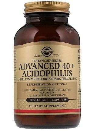 Solgar Улучшенный ацидофилус 40, Advanced 40 acidoph., 120 капсул