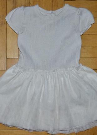 18 - 24 месяца фирменное необычное платье gap геп вязка фатин