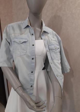 Рубашка коттоновая под джинс