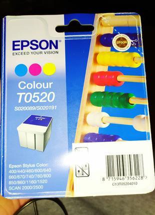 Картридж струйный Epson T0520