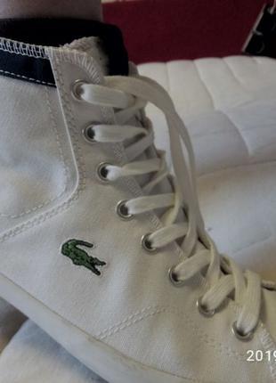 Кеды белые lacoste