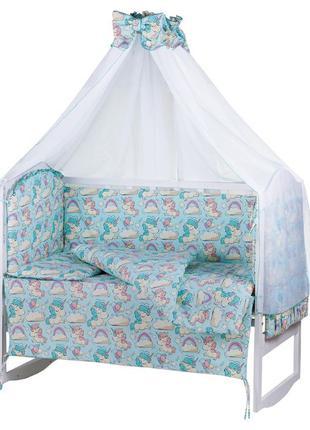 Комплект детской постели в кроватку. Балдахин, защита, одеяло ...
