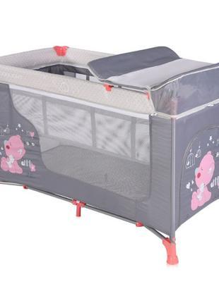Складная Кроватка манеж, 2 уровня, пеленатор Moonlight