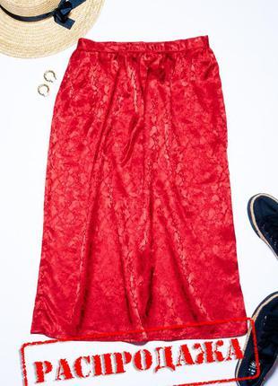 Красная юбка миди, летняя юбка ниже колана, юбка карандаш, спі...