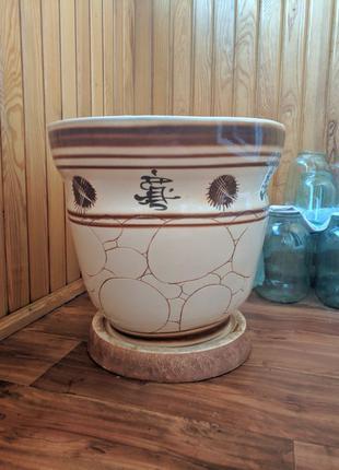 Горшок для цветов керамический 50л большой