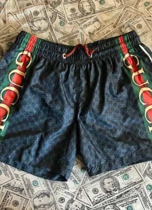 Плавательные пляжные мужские шорты gucci