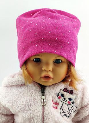 Шапки 50 по 54 размер детская с ушками головные уборы детские