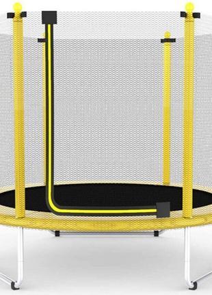 Батут Atleto 152 см з сіткою жовтий (5 ft) (21000100)