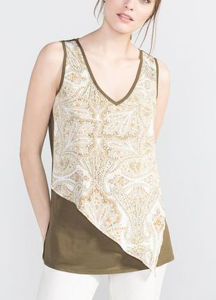 Женская блуза блузка топ футболка майка l-xl 48-50 cortefiel виск