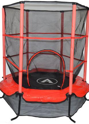 Батут Atleto 140 см с сеткой красный New