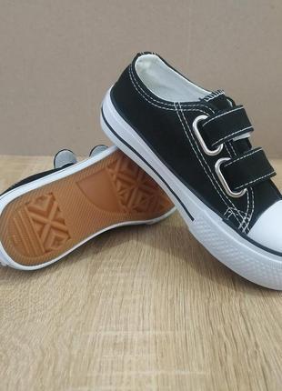 Черные кеды слипоны мокасины кроссовки на липучках !резиновый ...