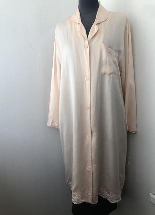 Шелковый халат рубаха, платье для дома, натуральный шёлк, шелк...