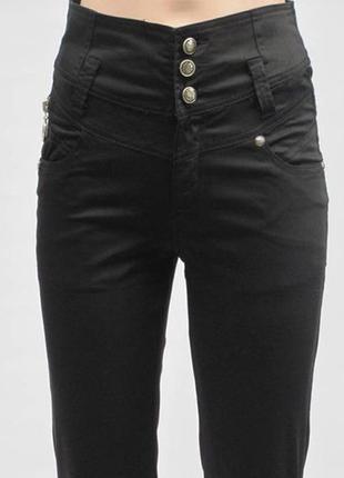 Брюки женские с высокой талией/ штаны брючки штаники джинсы вы...