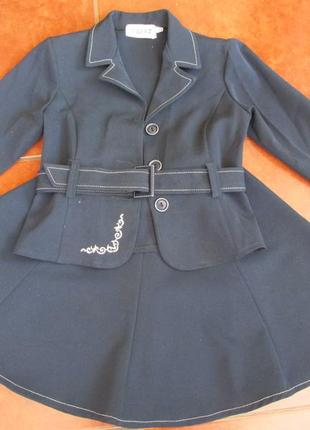 Школьный костюм / школьная форма пиджак юбка сарафан блузка ко...