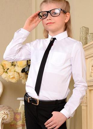 Распродажа! блуза с накладными карманами и галстуком в комлекте
