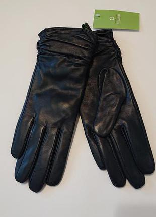 Женские кожаные перчатки 6,5р 7 кожа зима зимние перчатки Miraton