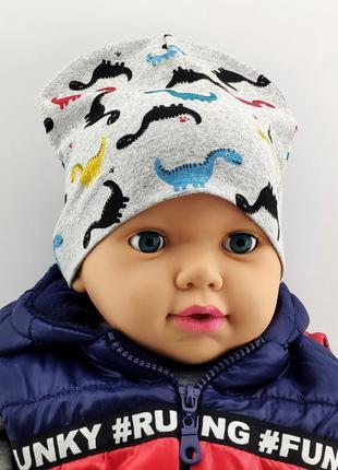 Шапки 50 по 52 размер детская с ушками головные уборы детские