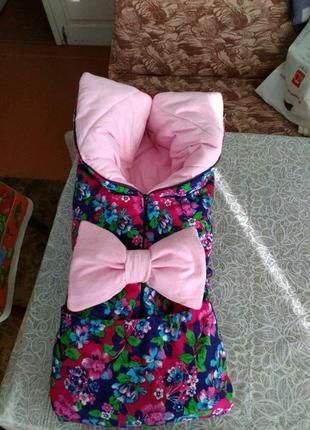 Конверт- одеяло трансформер для новорожденных зимнее