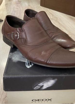 Мужские кожаные коричневые Туфли