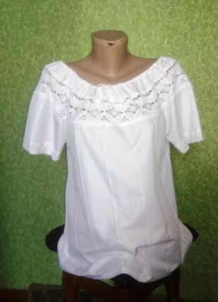 Блузка кружево открытые плечи