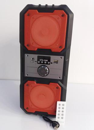 Колонка портативная Bluetooth KTS 1048 BT со входом для микрофона