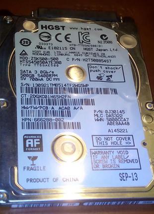 Жесткий диск Hitachi Travelstar Z5K500 HTS545050A7E380 на 500Гб