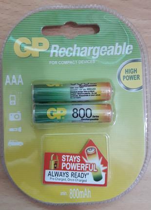 аккумулятор GP Rechargeable R-03 800mAh