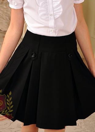 Распродажа юбка из поливискозы  синяя и чёрная школьная форма ...