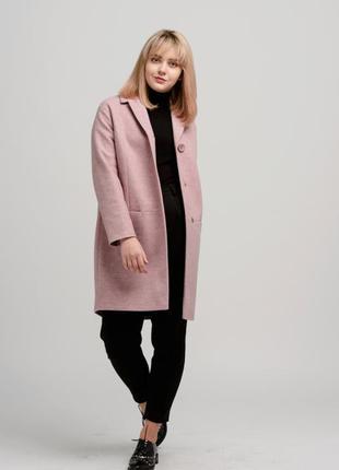 Элегантное женское пальто season розового цвета