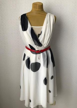 Классное шелковое платье от intrend (max mara), размер ит 46, ...