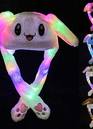 Шапка заяц,пикачу со светящимися ушками которые двигаютс,есть опт