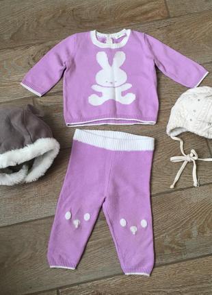 Benetton baby костюмчик на девочку на 3-6мес и шапочки