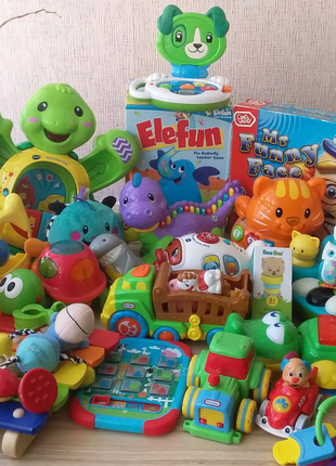 Фірмові іграшки Fisher Price, Vtech, Mega blogs, Hasbro