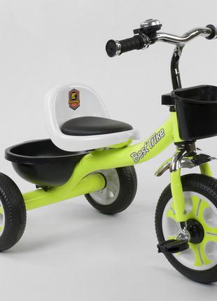 Велосипед детский трёхколёсный Салатовый Best Trike