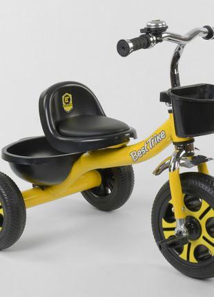 Велосипед детский трёхколёсный Желтый, Best Trike