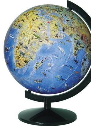 Глобус Загальногеографічний з тваринами без підсвічування 320 мм