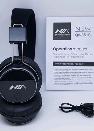 Беспроводные наушники Bluetooth NIA Q8-851S