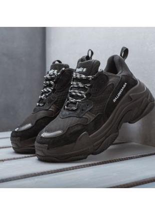Кроссовки Balenciaga Triple S (чёрные)
