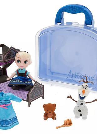 Игровой набор мини кукла Эльза в чемоданчике с игрушками - Frozen