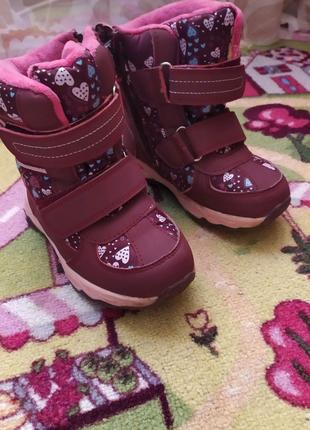 Зимние сапоги сапожки ботинки 27 размер 17 см по стельке