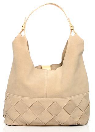 Замшевая сумка H&M кожаная кроссбоди хобо через плечо шоппер