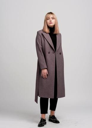 Женское осеннее пальто season цвета мокко