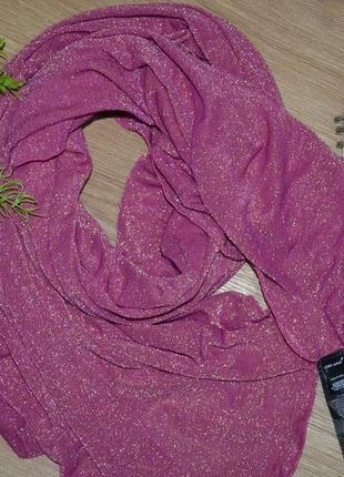 Нарядный, блестящий палантин, шарф, шаль италия